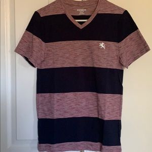 Express v neck striped tee xs